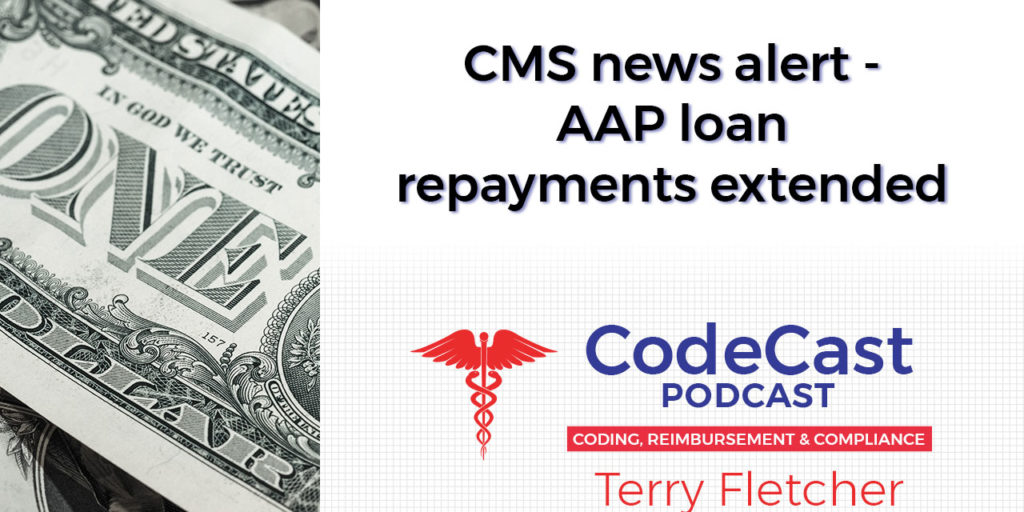 CMS news alert - AAP loan repayments extended