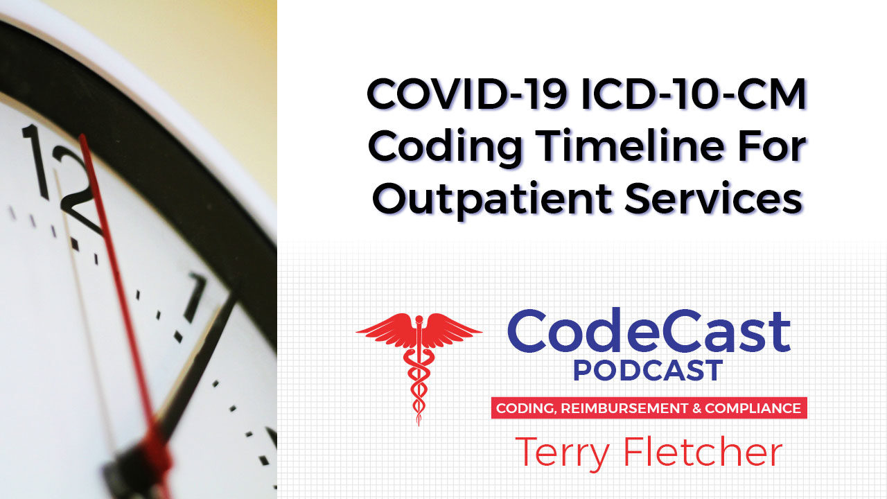 COVID-19 ICD-10-CM Coding Timeline For Outpatient Services